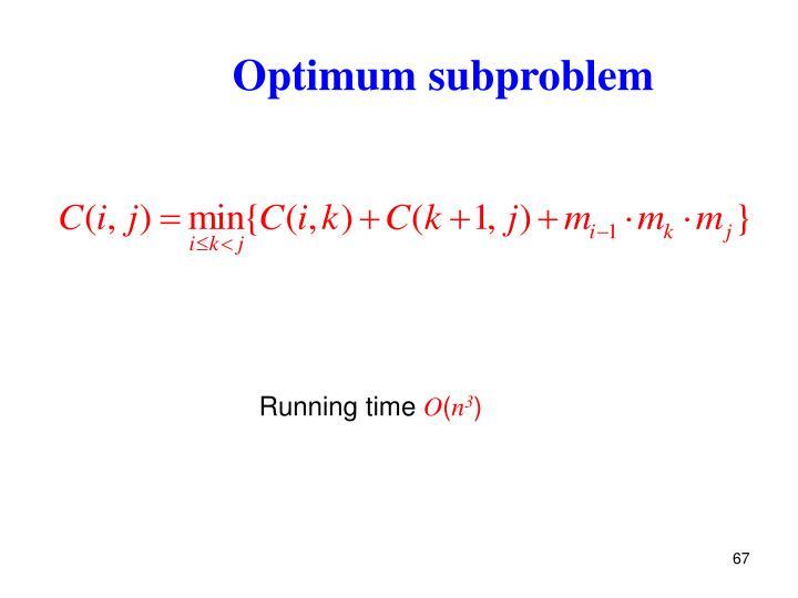 Optimum subproblem