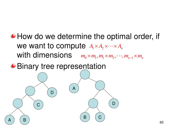 How do we determine the optimal order, if we want to compute