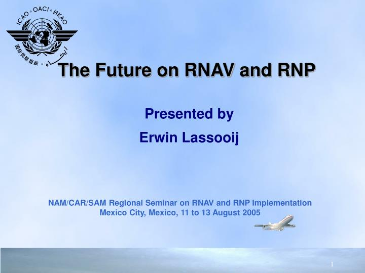 the future on rnav and rnp n.