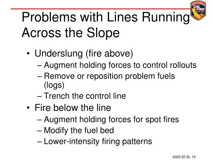 Problems with Lines Running Across the Slope