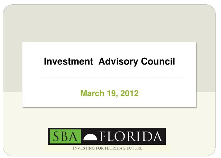 investment advisory council n.