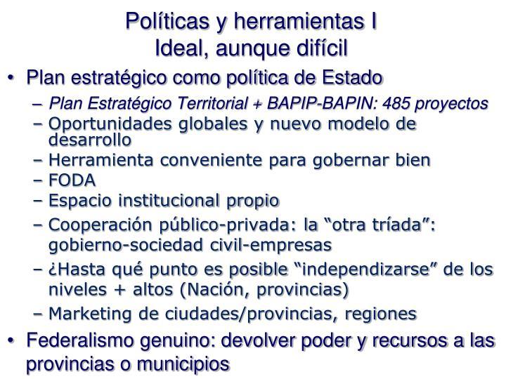 Políticas y herramientas I