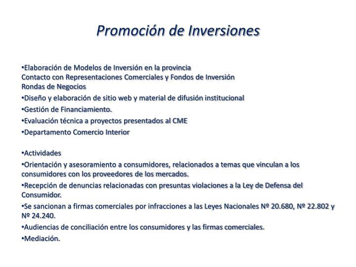 Promoción de Inversiones