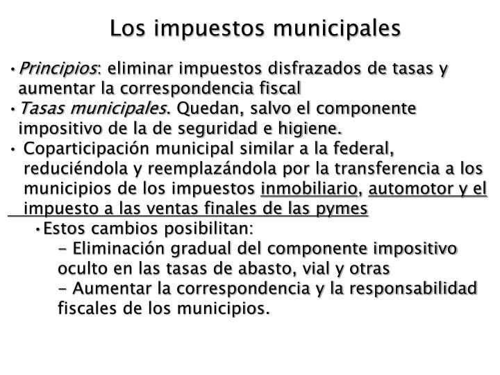 Los impuestos municipales