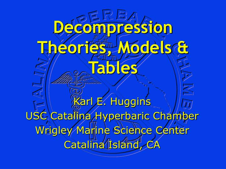 decompression theories models tables n.
