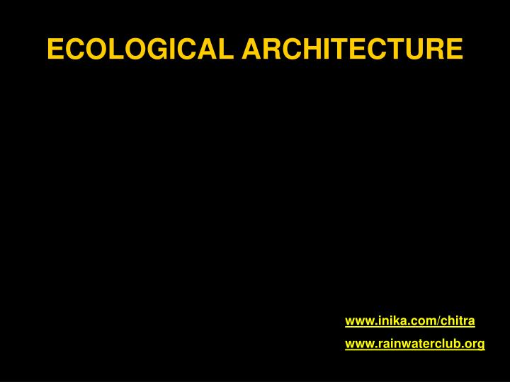 ecological architecture n.