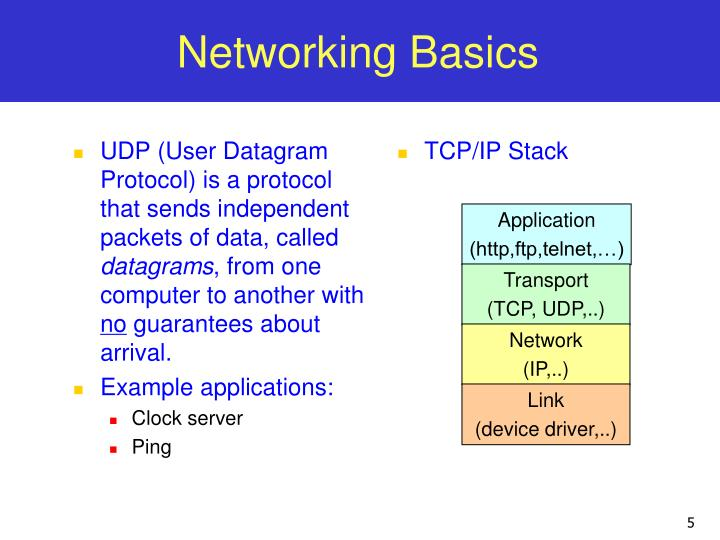 UDP (User Datagram Protocol) is a protocol that sends independent packets of data, called