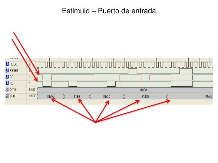 Estimulo – Puerto de entrada