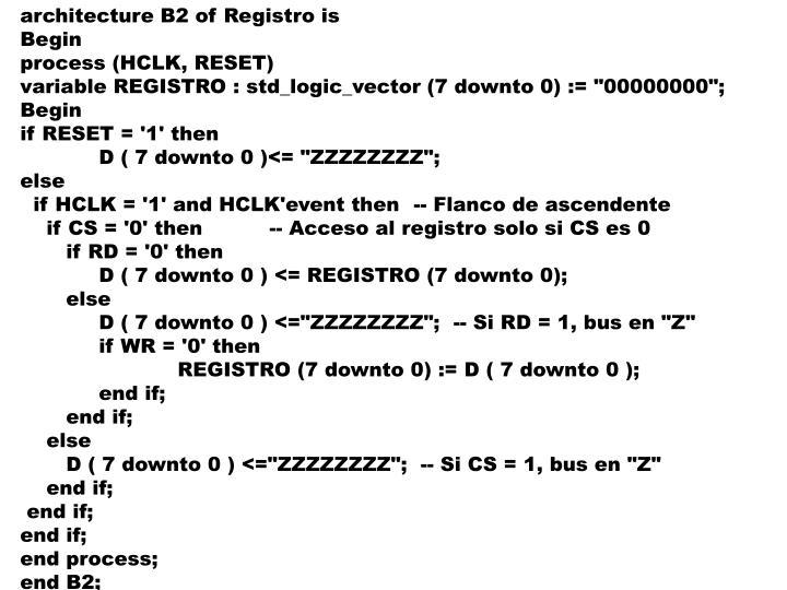 architecture B2 of Registro is