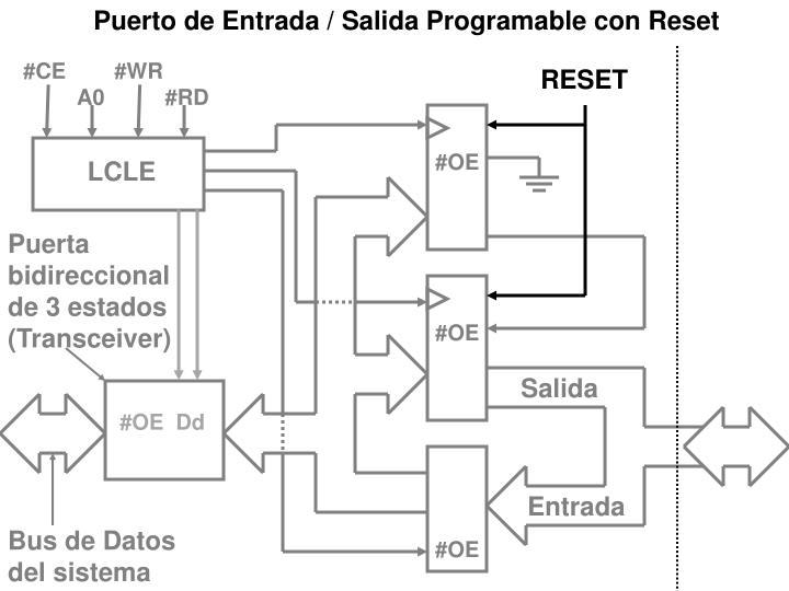 Puerto de Entrada / Salida Programable con Reset
