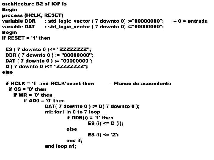 architecture B2 of IOP is