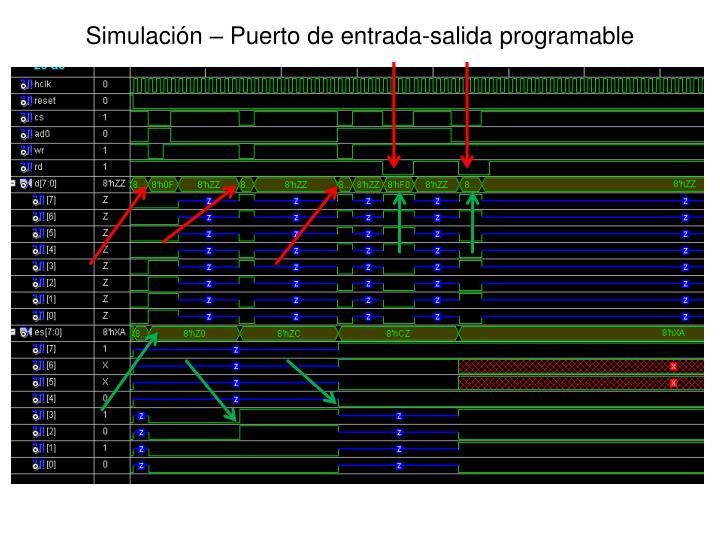 Simulación – Puerto de entrada-salida programable