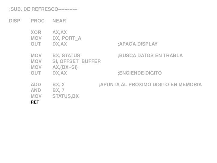 ;SUB. DE REFRESCO------------