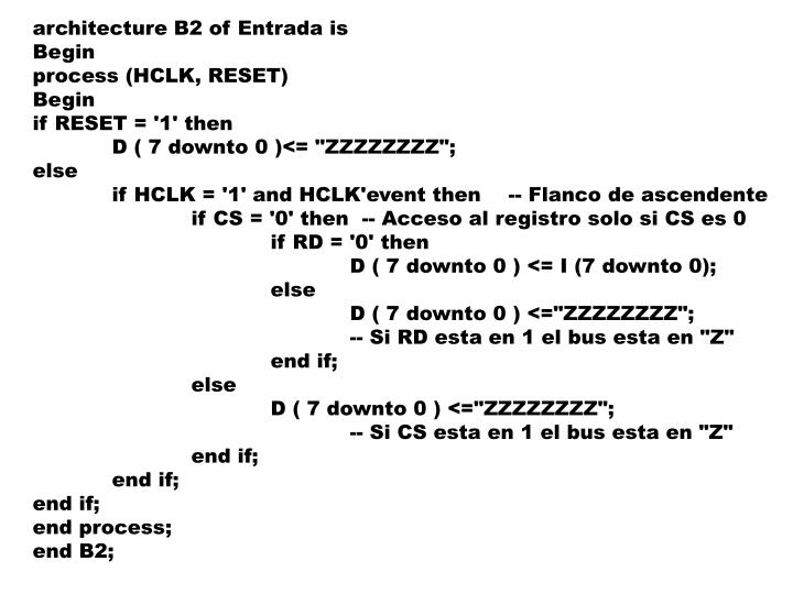 architecture B2 of Entrada is