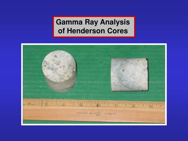 Gamma Ray Analysis