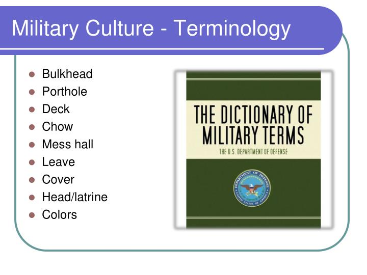 Military Culture - Terminology