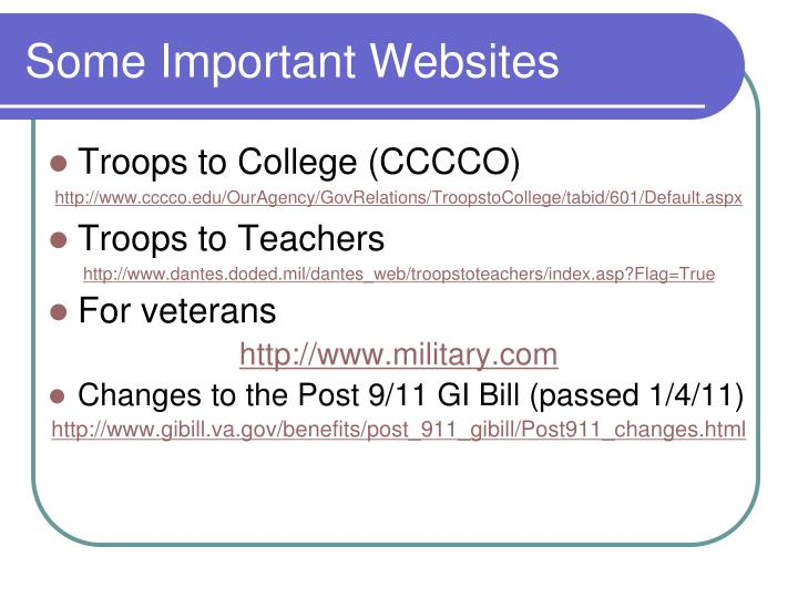 Some Important Websites