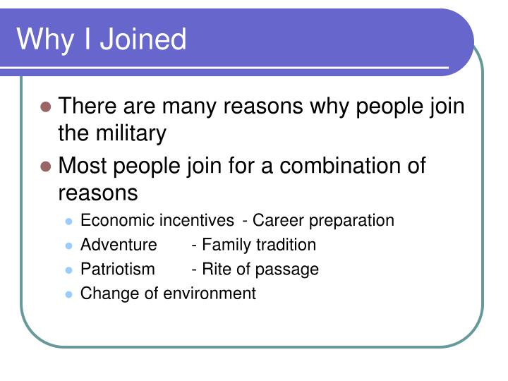 Why I Joined