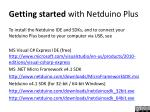 getting started with netduino plus