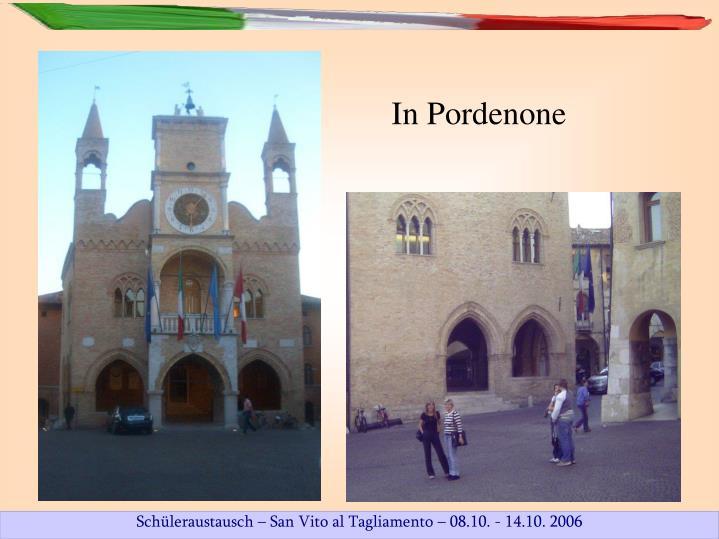 In Pordenone