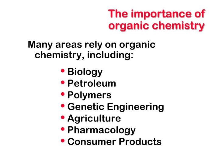 the importance of organic chemistry n.