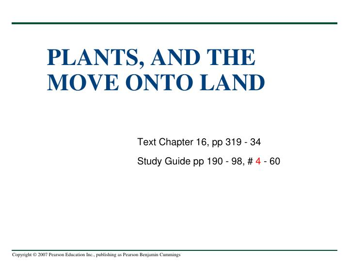plants and the move onto land n.