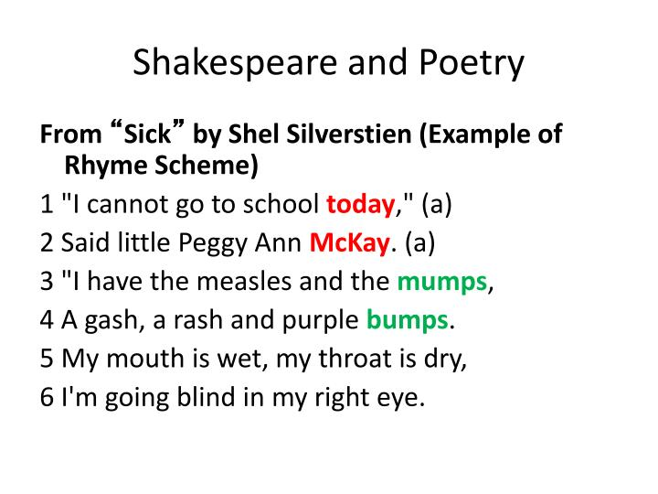 Shakespeare and Poetry