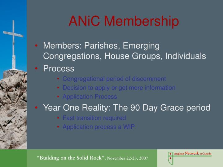 ANiC Membership