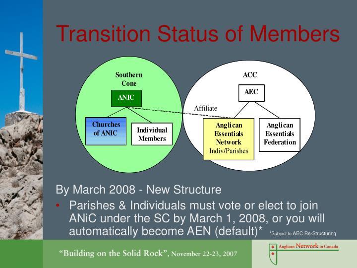 Transition Status of Members
