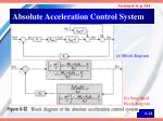 absolute acceleration control system
