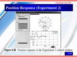 position response experiment 2