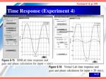 time response experiment 4