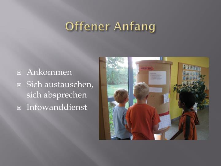 Offener anfang