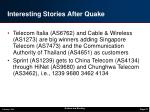 interesting stories after quake