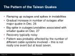 the pattern of the taiwan quakes