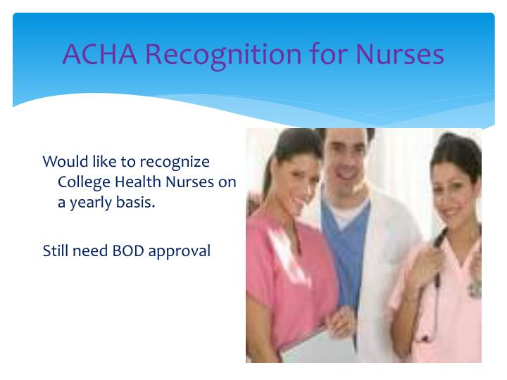 ACHA Recognition for Nurses