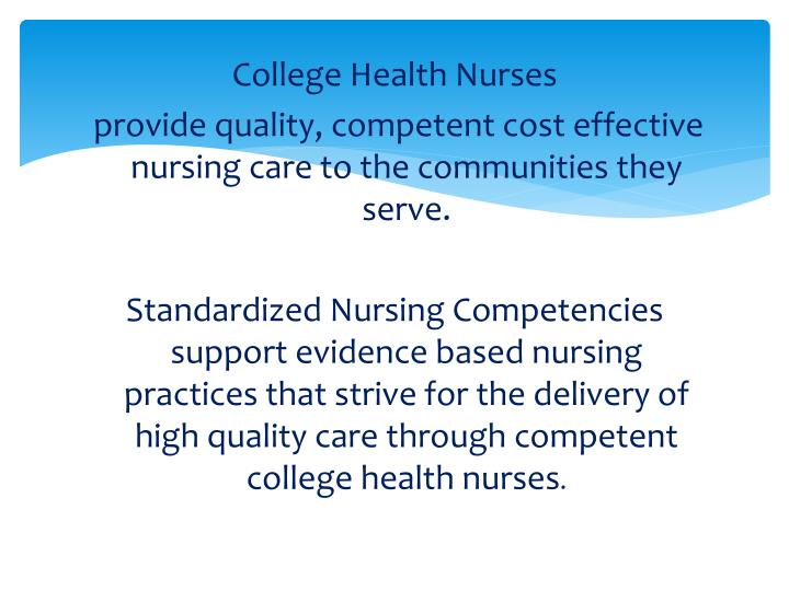 College Health Nurses