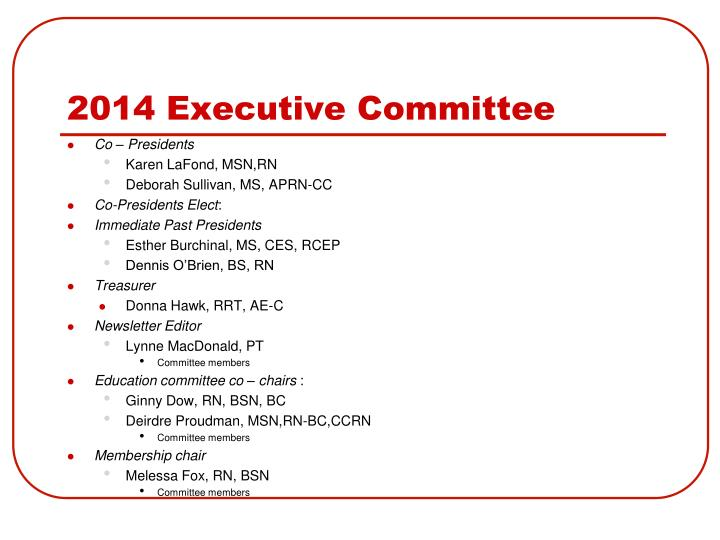 2014 executive committee