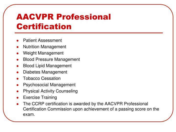 AACVPR Professional Certification