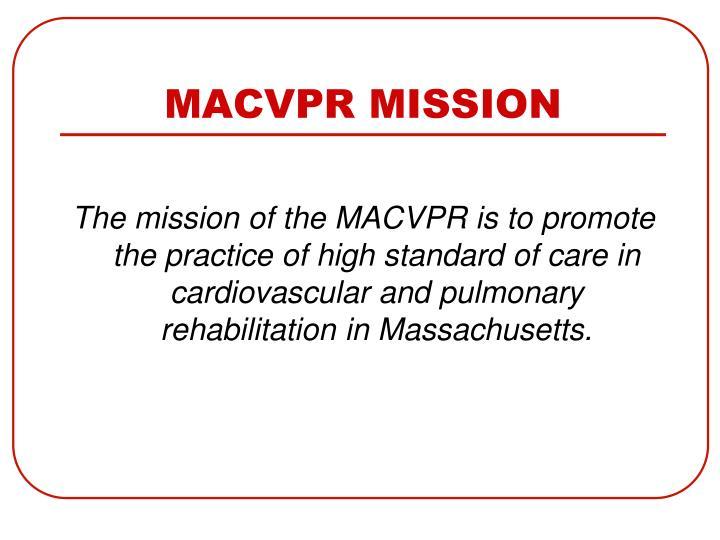 Macvpr mission