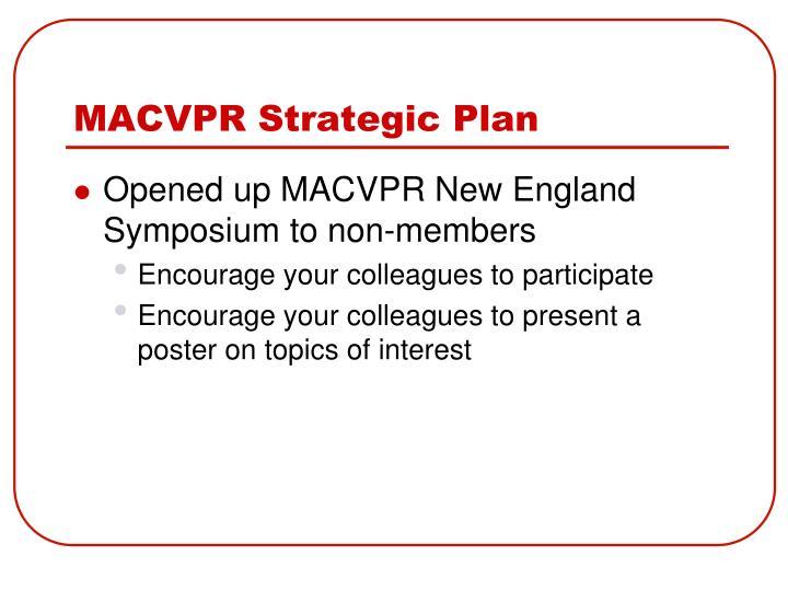 MACVPR Strategic Plan