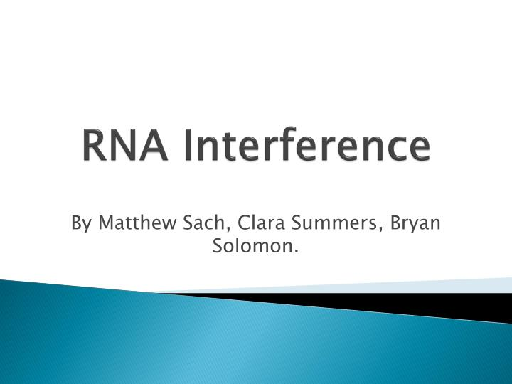 rna interference n.