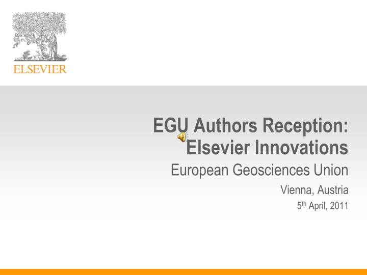 egu authors reception elsevier innovations n.