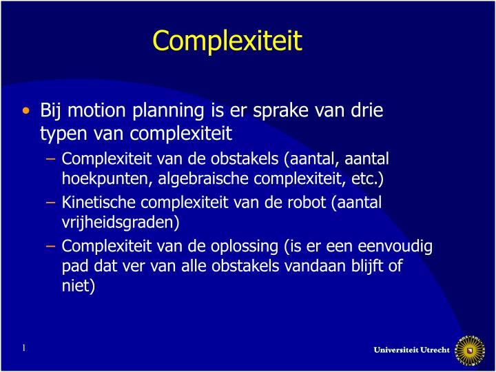 complexiteit n.