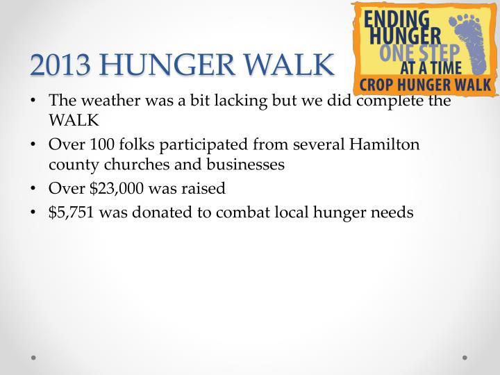 2013 HUNGER WALK
