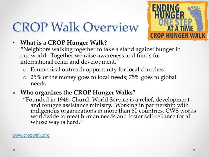 CROP Walk Overview