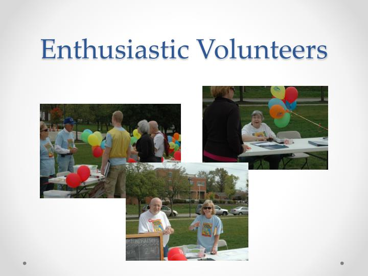Enthusiastic Volunteers