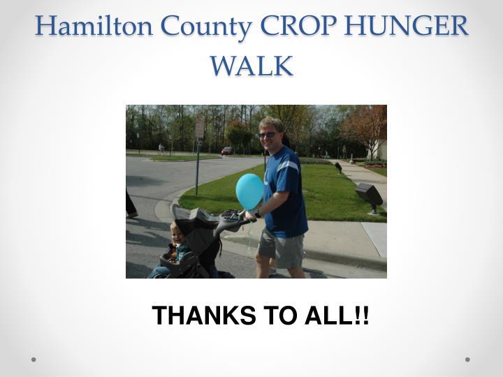 Hamilton County CROP HUNGER WALK