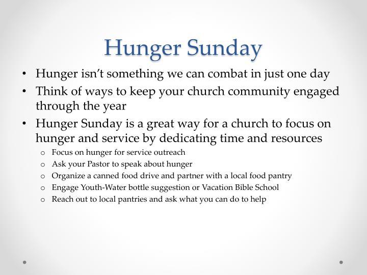 Hunger Sunday