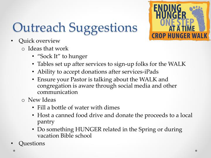Outreach Suggestions